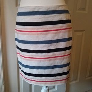 Ann Taylor striped/lined skirt